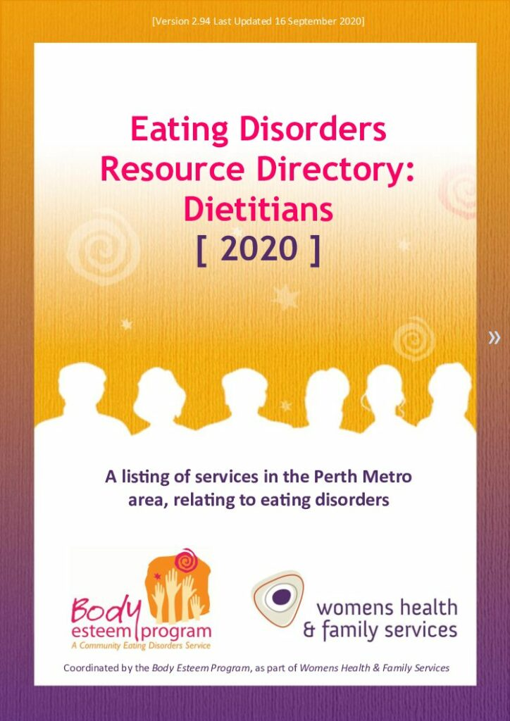 Eating Disorders Directory - Dietitians