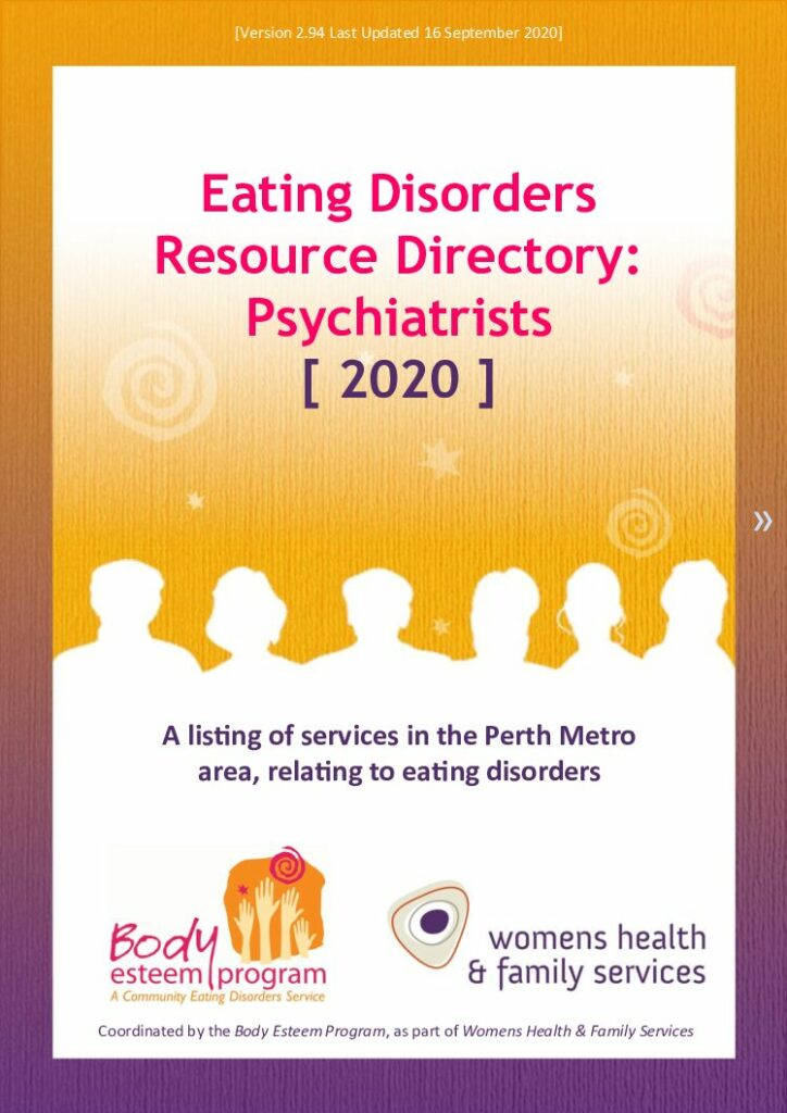 Eating Disorders Directory - Psychiatrists